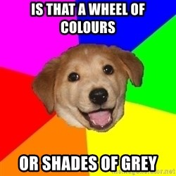 Advice Dog - is that a wheel of colours or shades of grey