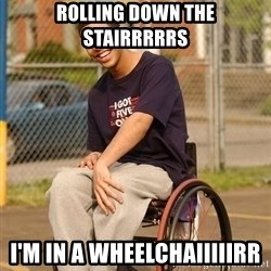 Drake Wheelchair - rolling down the stairrrrrs i'm in a wheelchaiiiiirr