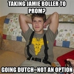 Jake Bell: Stoner - taking jamie boller to prom? going dutch=not an option