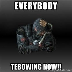 StalkerFaceNew - Everybody Tebowing now!!