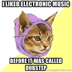 Hipster Kitty - i liked electronic music before it was called dubstep