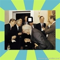 reagan white house laughing - .