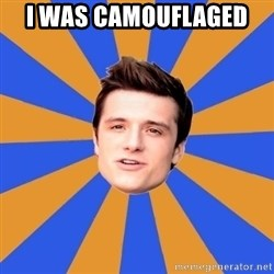 typical josh - I was camouflaged