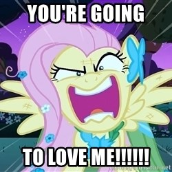 angry-fluttershy - You're Going  To LOVE ME!!!!!!