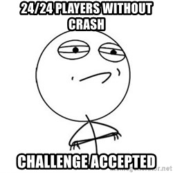 Challenge Accepted HD 1 - 24/24 players without crash Challenge accepted