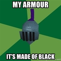 Runescape Advice - MY ARMOUR IT'S MADE OF BLACK