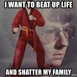 PTSD Karate Kyle - i want to beat up life and shatter my family