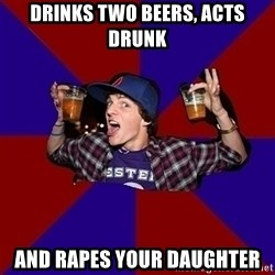 Sunny Student - drinks two beers, acts drunk and rapes your daughter