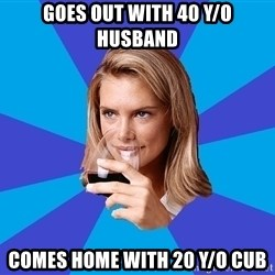 Middle Class Milf - Goes out with 40 y/o husband Comes home with 20 y/o cub