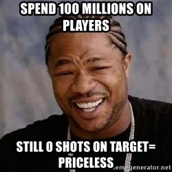 XZIBITHI - Spend 100 millions on players still 0 shots on TARGET= Priceless