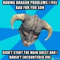 skyrim stan - Having dragon problems i feel bad for you son didn't start the main quest and i haven't encountered one