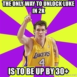Lame Luke Walton - The only way to unlock Luke in 2k Is to be up by 30+