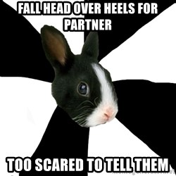 Roleplaying Rabbit - Fall head over heels for partner Too scared to tell them
