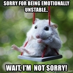 Sorry I'm not Sorry - sorry for being emotionally unstable.. wait, i'm  not sorry!