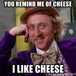 Willy Wonka - You remind me of cheese i like cheese