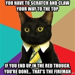 Business Cat - you have to scratch and claw your way to the top if you end up in the red though, you're done... that's the fireman