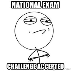 Challenge Accepted HD 1 - national exam CHALLENGE ACCEPTED