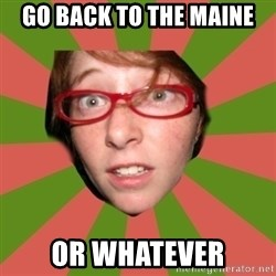 english class nicole - go back to the maine or whatever