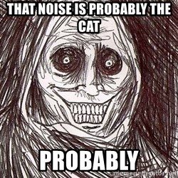 Uninvited Houseguest - That noise is PROBABLY the cat  probably