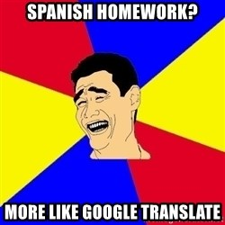 journalist - Spanish homework? more like google translate