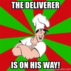 pizza31 - the deliverer is on his way!