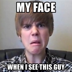 Justin Bieber 213 - my face when i see this guy
