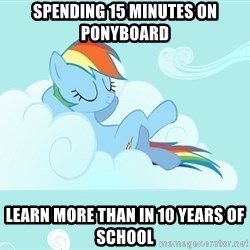 My Little Pony - spending 15 minutes on ponyboard Learn more than in 10 years of school