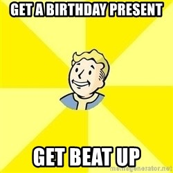 Fallout 3 - get a birthday present get beat up