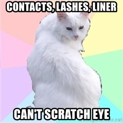 Beauty Addict Kitty - CONTACTS, LASHES, LINER CAN'T SCRATCH EYE