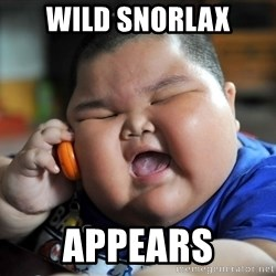 Fat Asian Kid - Wild Snorlax Appears
