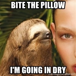 The Rape Sloth - bite the pillow i'm going in dry