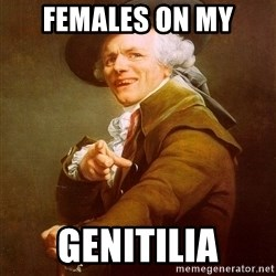 Joseph Ducreux - females on my genitilia