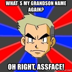 Professor Oak - WHAT´S MY GRANDSON NAME AGAIN? OH RIGHT, ASSFACE!