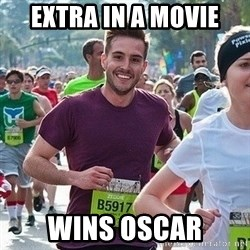 Ridiculously photogenic guy (Zeddie) - extra in a movie wins oscar