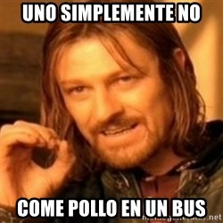 ODN - uno simplemente no  come pollo en un bus