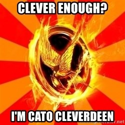 Typical fan of the hunger games - clever enough? i'm cato cleverdeen