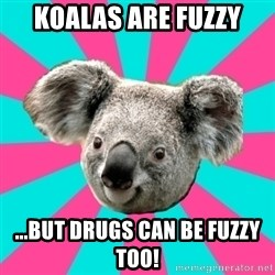 Koala Roleador - koalas are fuzzy ...but drugs can be fuzzy too!