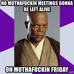 mace windu - no muthafuckin meetings gonna be left alive on muthafuckin friday
