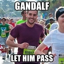 Ridiculously photogenic guy (Zeddie) - gandalf let him pass