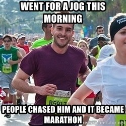 Ridiculously photogenic guy (Zeddie) - went for a jog this morning People Chased him and it became marathon
