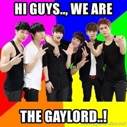 b2st - hi guys.., we are the gaylord..!
