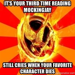 Typical fan of the hunger games - it's your third time reading mockingjay still cries when your favorite character dies