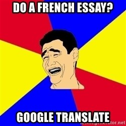 journalist - do a french essay? google translate