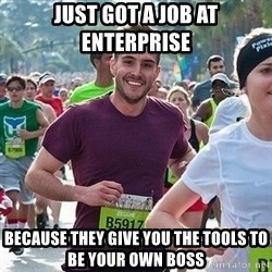 Ridiculously photogenic guy (Zeddie) - just got a job at enterprise because they give you the tools to be your own boss