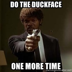 Jules Pulp Fiction - Do the duckface one more time
