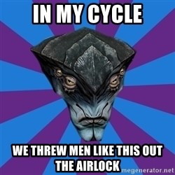 Javik the Prothean - In my cycle we threw men like this out the airlock