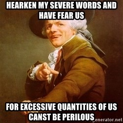 Joseph Ducreux - hearken my severe words and have fear us for excessive quantities of us canst be perilous