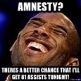 Kobe Bryant - Amnesty? theres a better chance that i'll get 81 assists tonight!