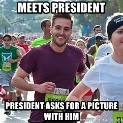 Ridiculously photogenic guy (Zeddie) - meets president president asks for a picture with him