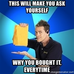 Shamwow Guy - This will make you ask yourself Why you bought it, everytime